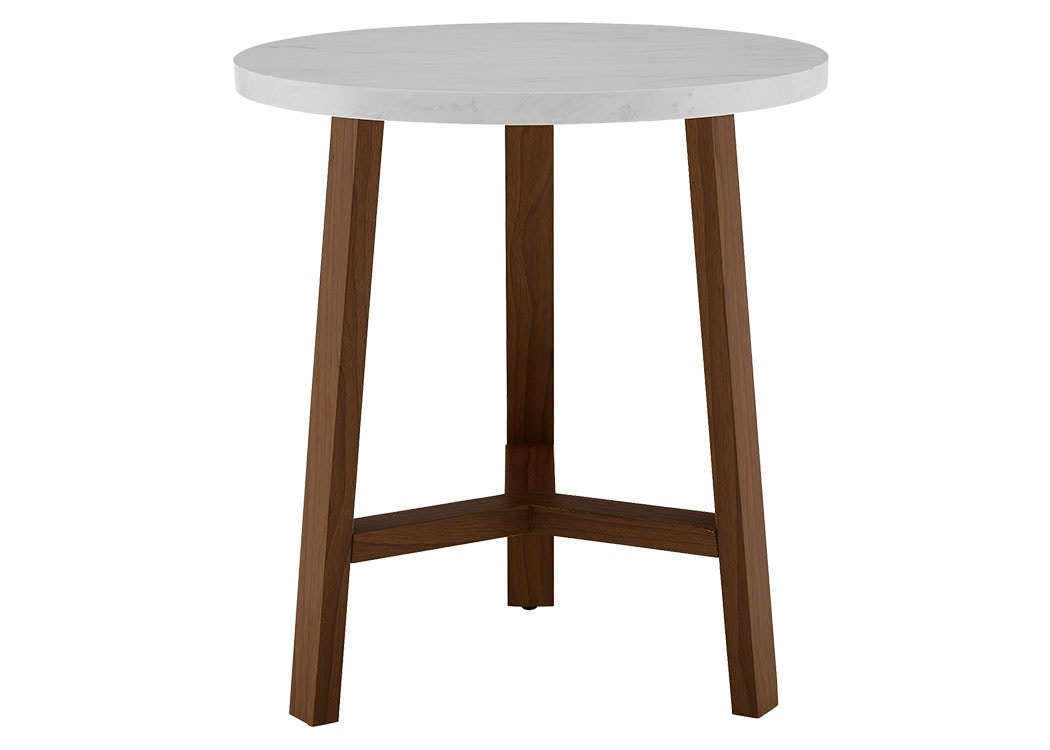 Ft Myers 20u0027u0027 Transitional Contemporary Mid Century Modern Round Accent Side  Table And Acorn