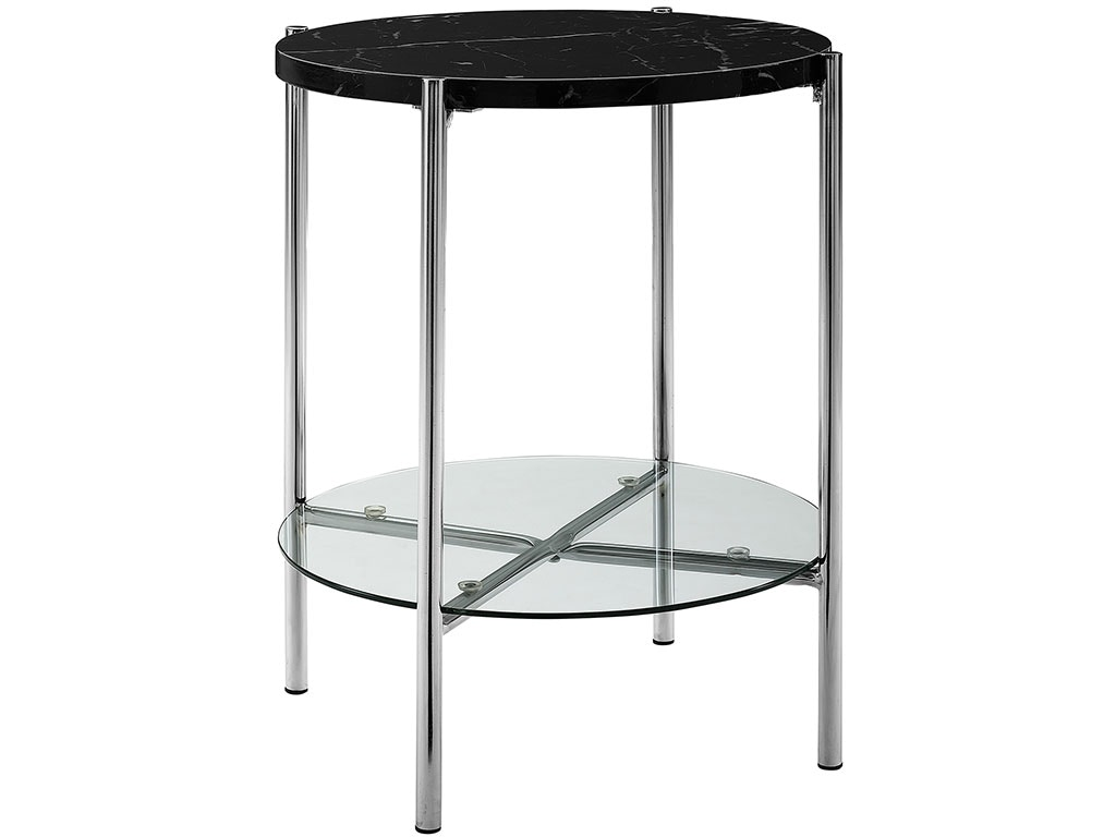 20 Quot Mid Century Round Side End Table Nightstand Black