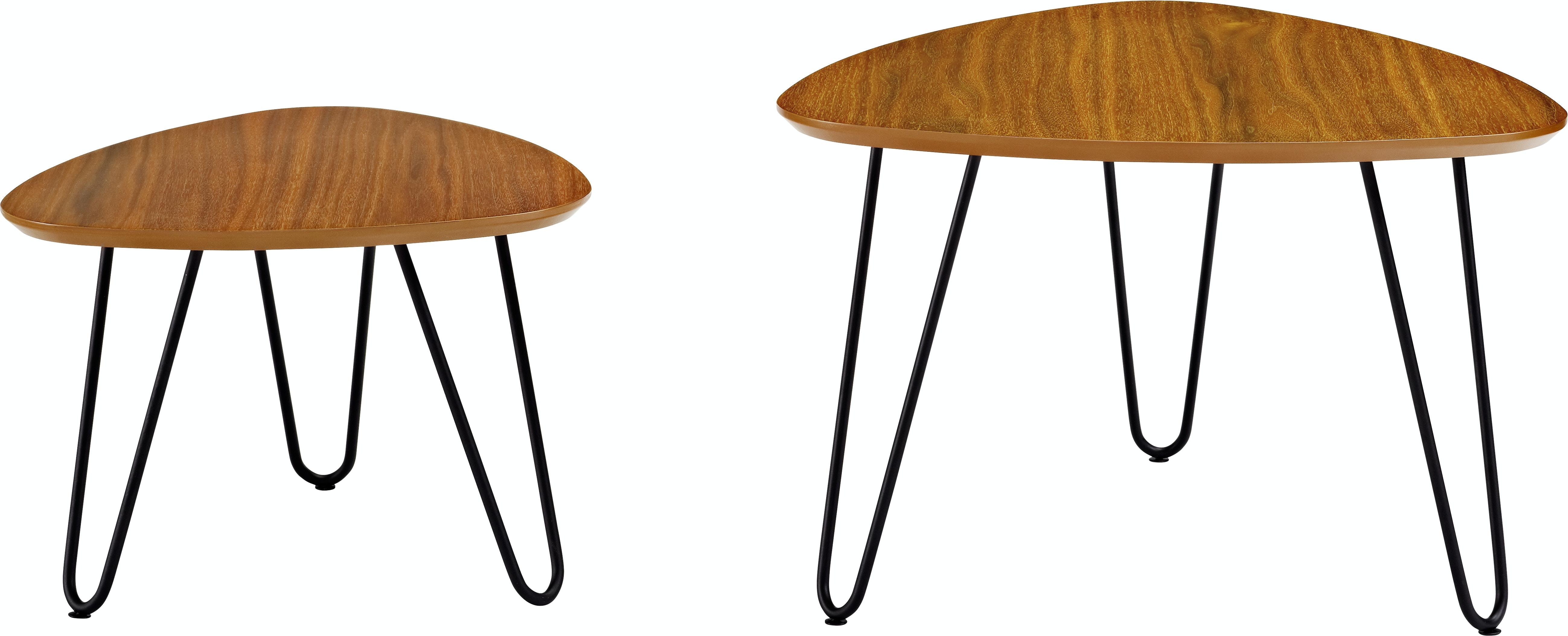 Hairpin Leg Wood Nesting Coffee Table Set Wedaf24hpncwt