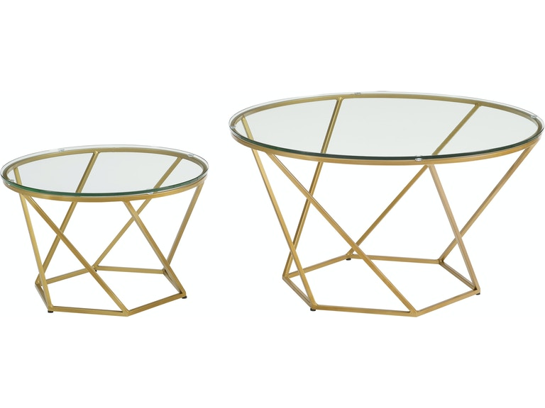 Ft Myers Geometric Gl Nesting Coffee Tables Af28clrgggd From Walter E Smithe Furniture Design