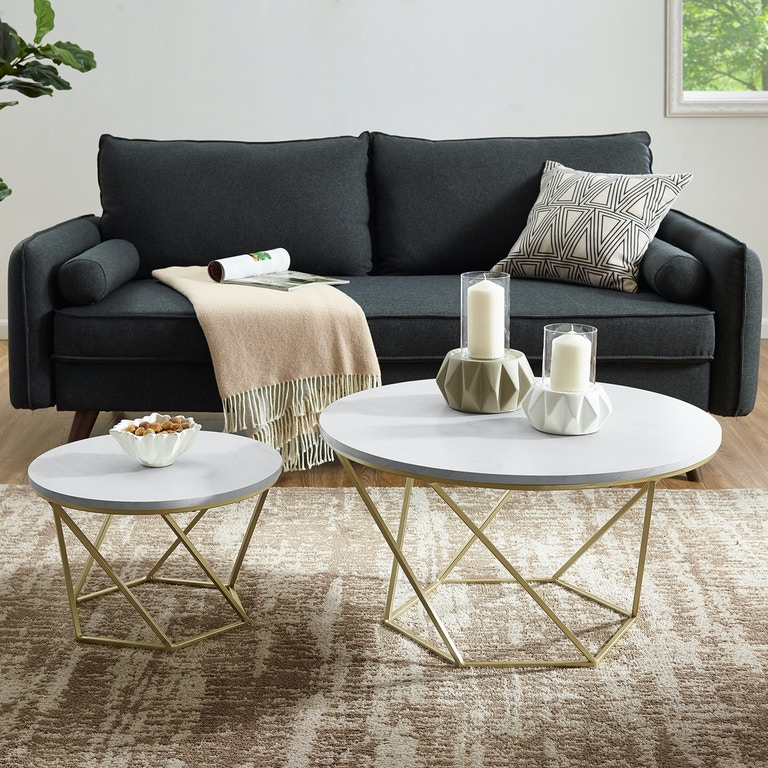 Ft Myers Modern Bohemian Geometric Gl Nesting Coffee Table Set Wedaf28clrgmg From Walter E Smithe