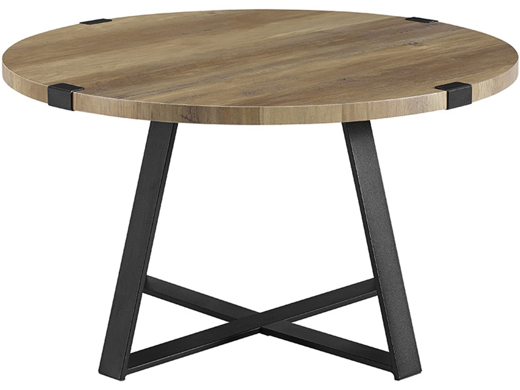 Excellent Ft Myers Living Room 30 Rustic Urban Industrial Wood And Metal Wrap Round Coffee Table Rustic Oak Black Wedaf30Mwctro Walter E Smithe Furniture Machost Co Dining Chair Design Ideas Machostcouk
