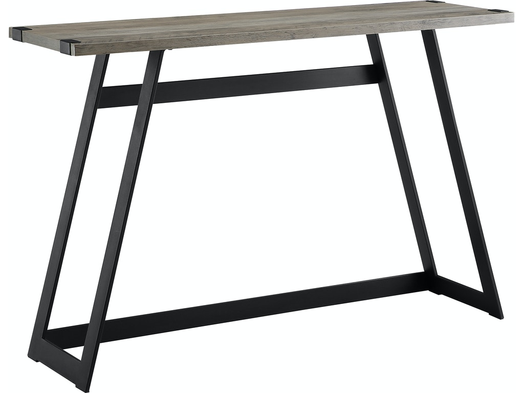 Marvelous Ft Myers Living Room 46 Urban Industrial Metal Wrap Entry Console Sofa Table Grey Wash Wedaf46Mwetgw Walter E Smithe Furniture Design Dailytribune Chair Design For Home Dailytribuneorg