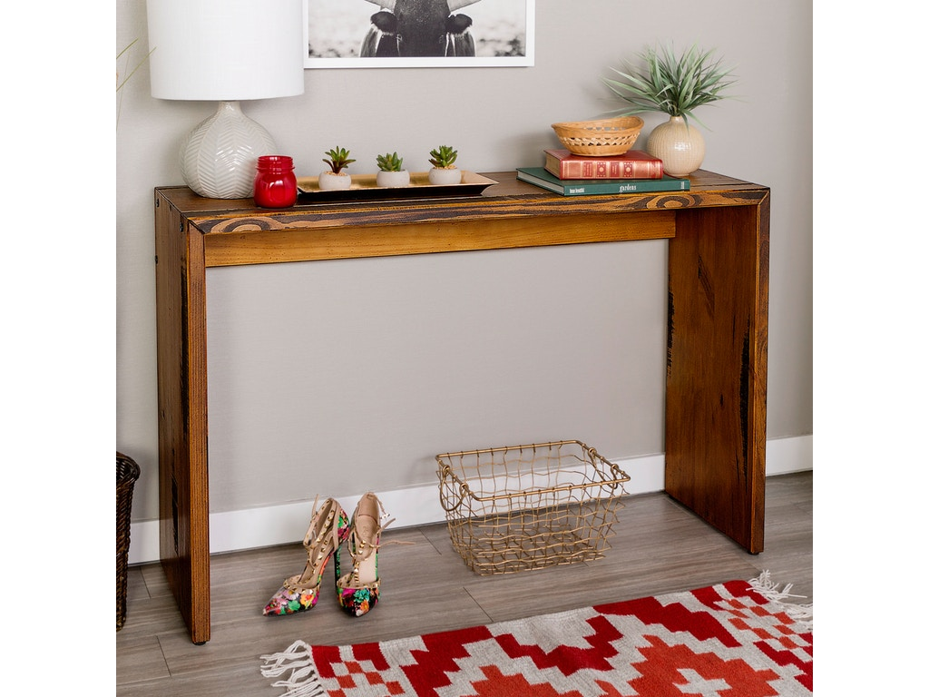 low priced 02ce8 1ac9c Ft Myers Living Room 48'' Rustic Reclaimed Wood Entry Table WEDAF48ALPAM  Walter E. Smithe Furniture + Design