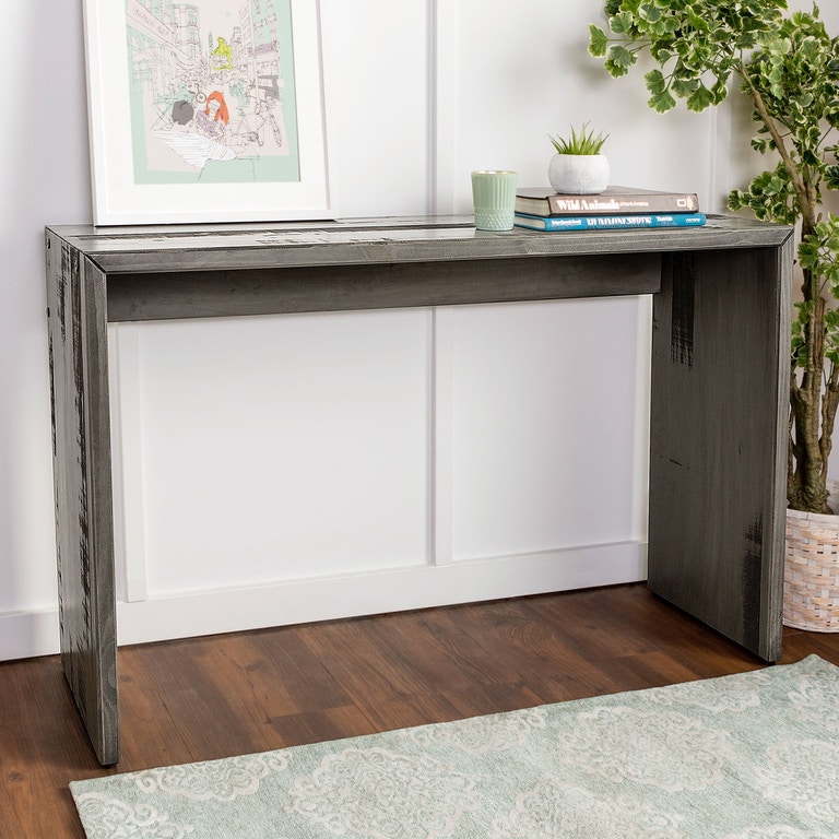 outlet store c5c03 0ae03 Ft Myers Living Room 48'' Rustic Reclaimed Wood Entry Table WEDAF48ALPGY  Walter E. Smithe Furniture + Design