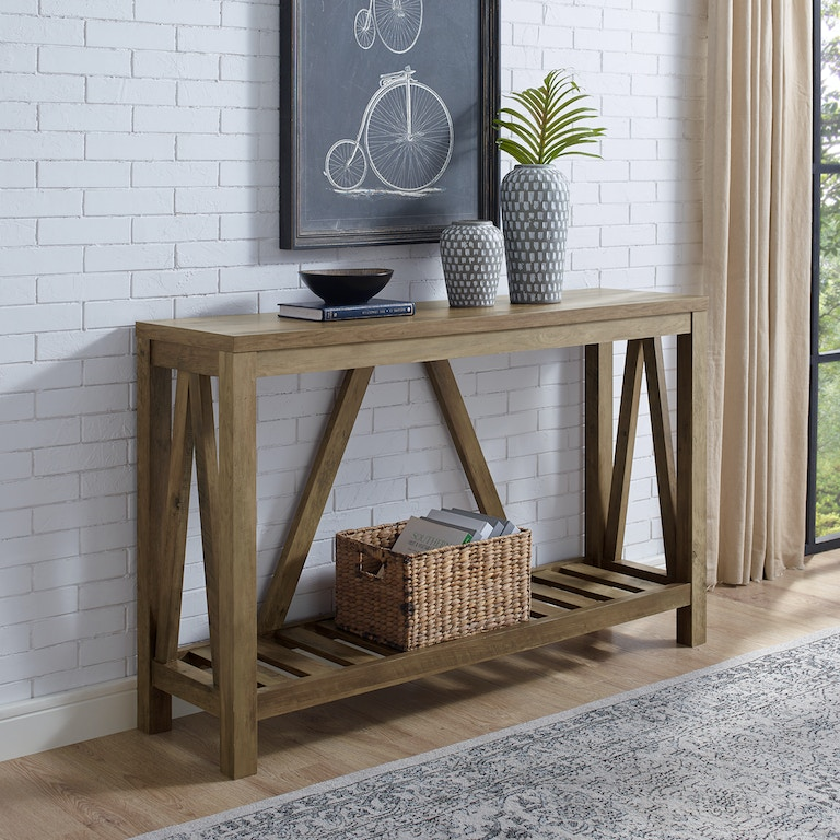 Ft Myers 52 A Frame Rustic Entry Console Table Wedaf52aftro From Walter E