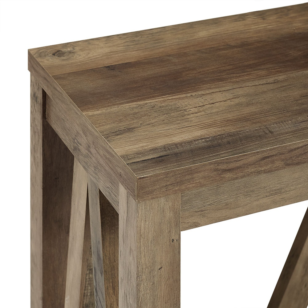 Ft Myers 52 A Frame Rustic Entry Console Table Rustic Oak Wedaf52aftro From