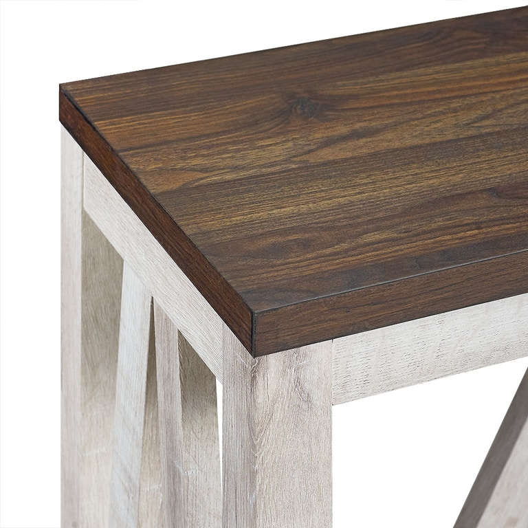 Ft Myers 52 A Frame Rustic Entry Console Table Dark Walnut Top