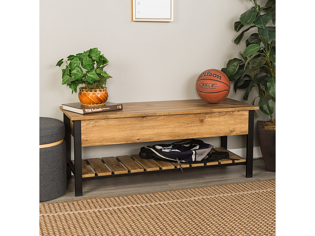 Swell Ft Myers Living Room 48 Rustic Modern Farmhouse Storage Bench With Shoe Shelf Barnwood Wedb48Pcsbbw Walter E Smithe Furniture Design Gmtry Best Dining Table And Chair Ideas Images Gmtryco