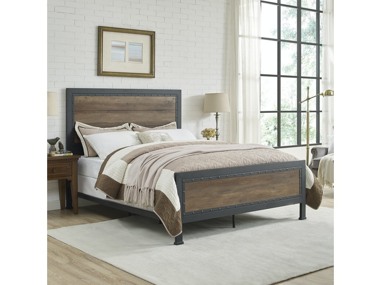 Ft Myers Rustic Modern Farmhouse Queen Size Bed Oak Wedbqawro From Walter E