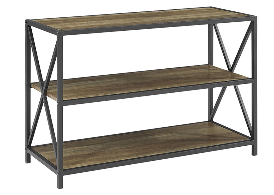 Ft Myers Home Office 40 Urban Industrial Rustic Farmhouse Industrial X Frame Metal And Wood Bookcase Rustic Oak Wedbs40xmwro Walter E Smithe