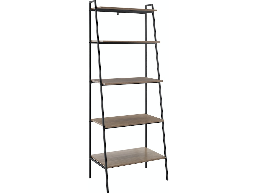 premium selection 7349f 32be8 Ft Myers Living Room 72'' Urban Industrial Metal and Wood Ladder Shelf  WEDBS72ARLDMO Walter E. Smithe Furniture + Design