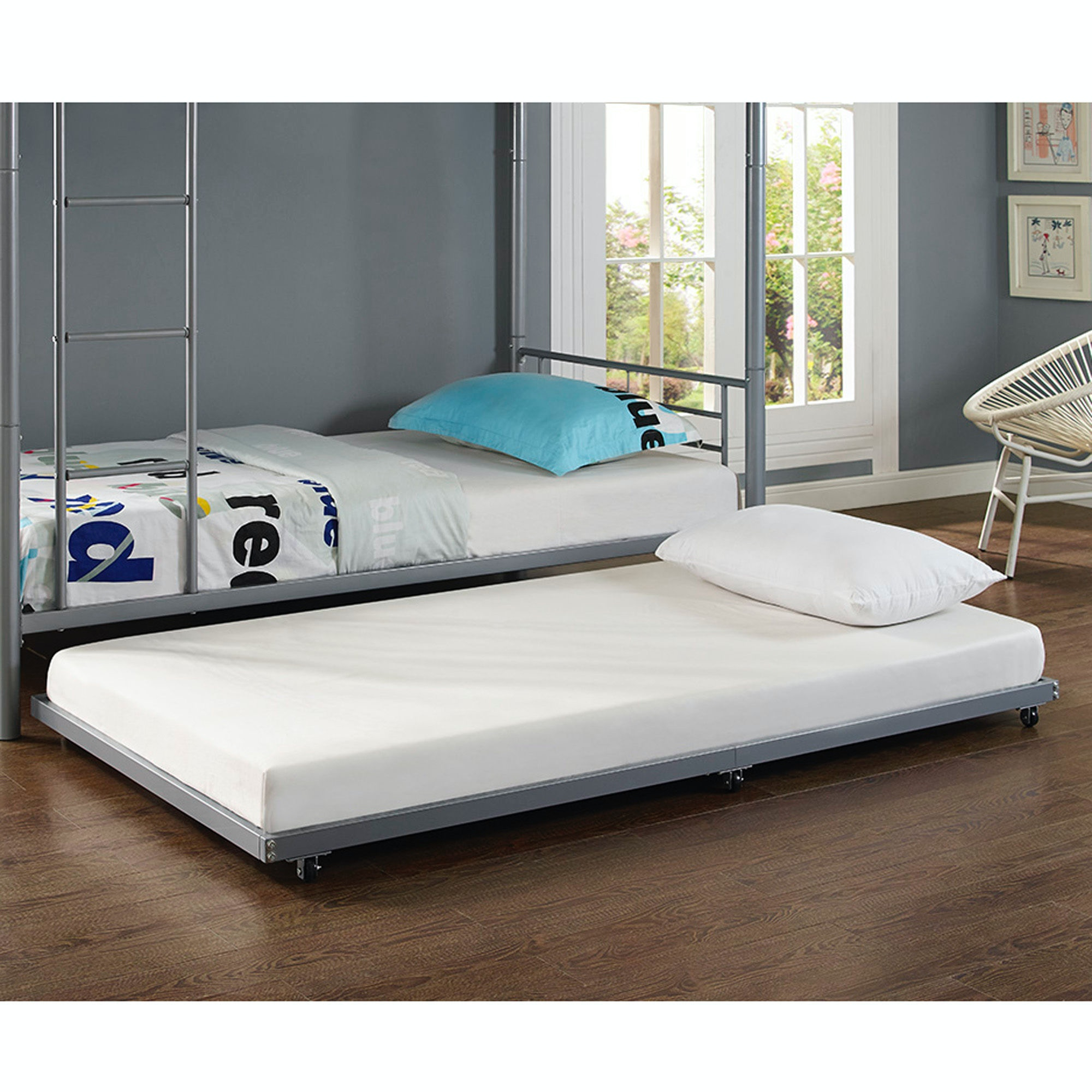 Twin Roll Out Trundle Bed Frame WEDBT40TBSL