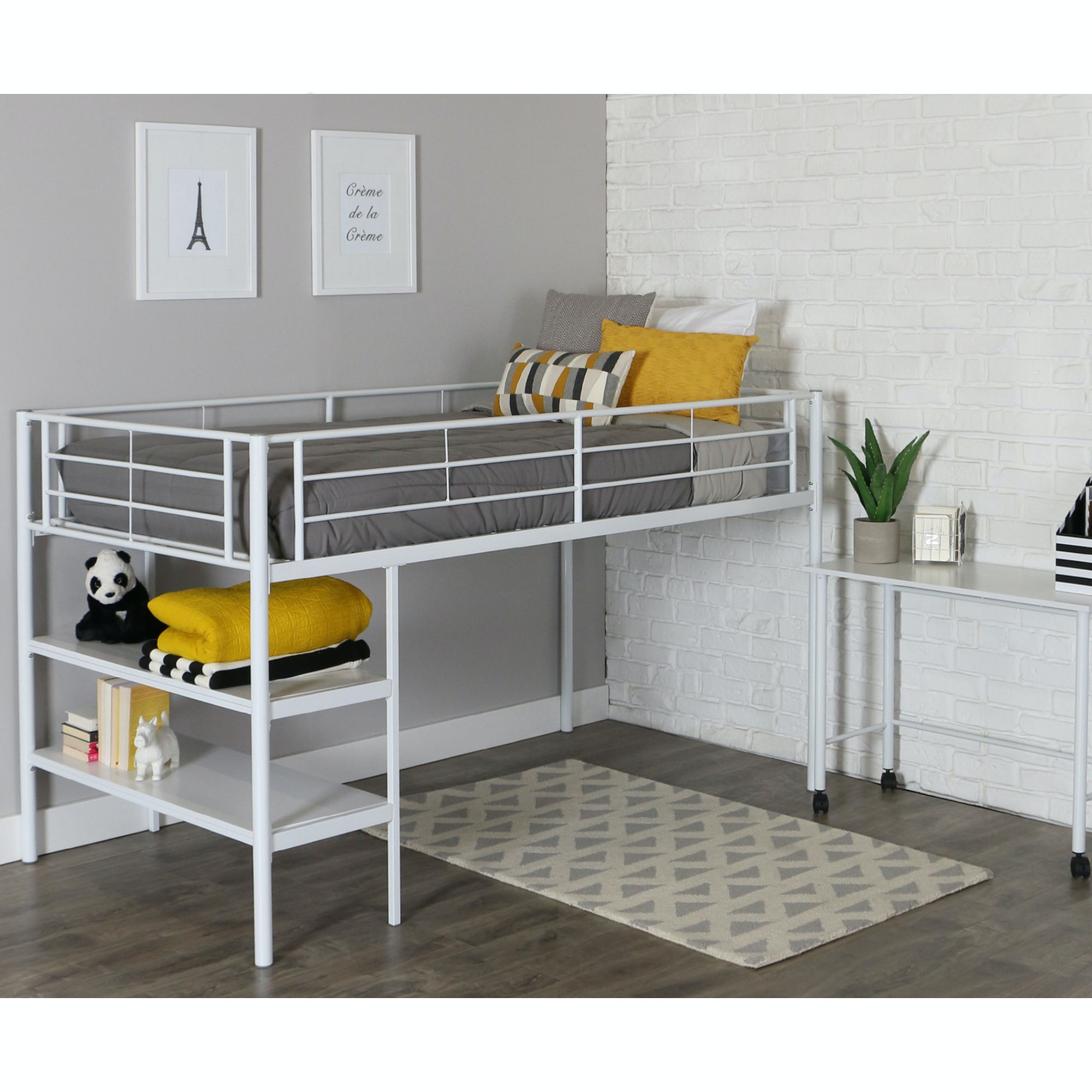 Twin Low Loft Bed With Desk Wedbtld46spwh