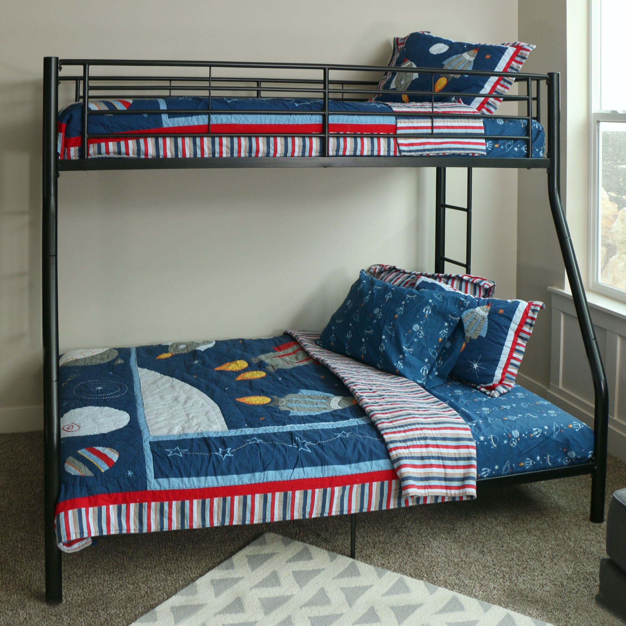Ft Myers Twin Over Full Metal Bunk Bed WEDBTODBL From Walter E. Smithe  Furniture +