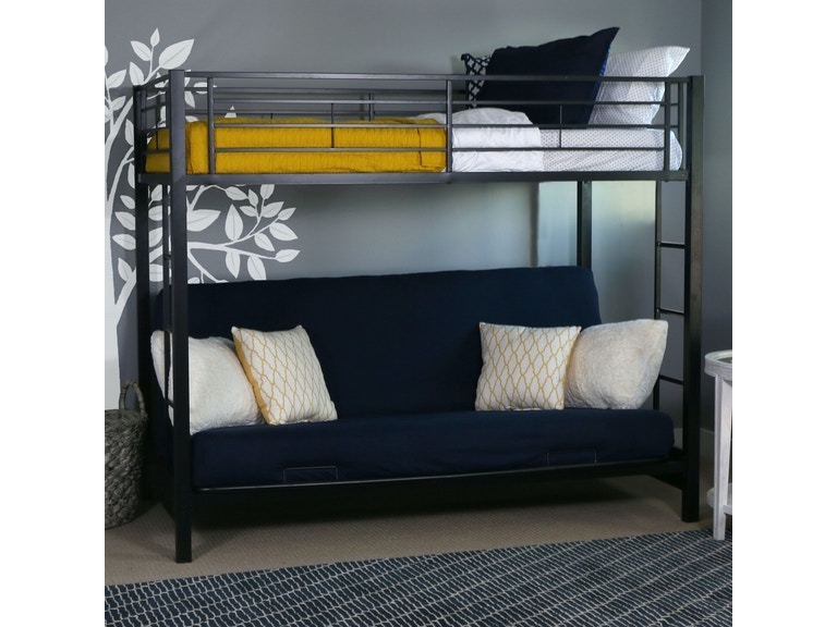 Ft Myers Youth Twin Over Futon Metal Bunk Bed Wedbtofbl Walter E Smithe Furniture Design