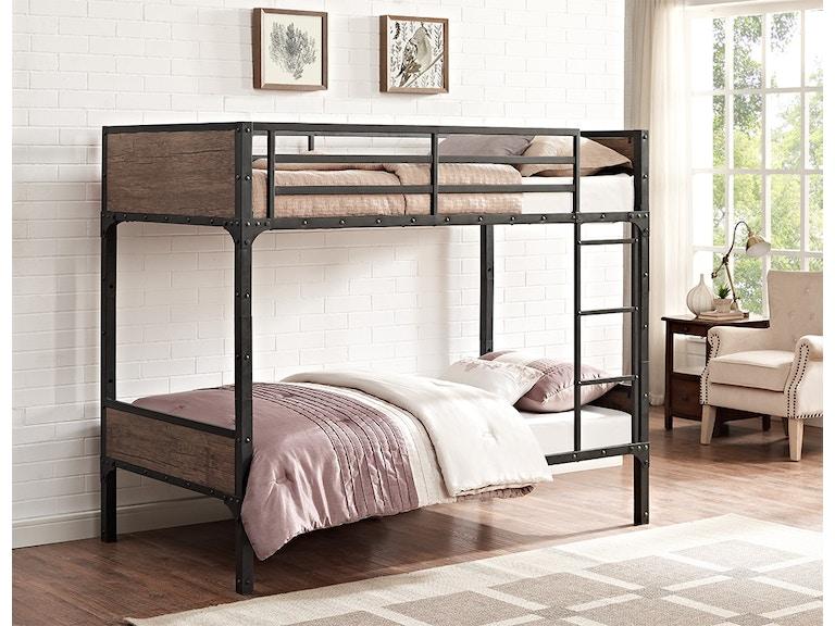 Ft Myers Twin Over Rustic Wood Bunk Bed Wedbtotrmwm