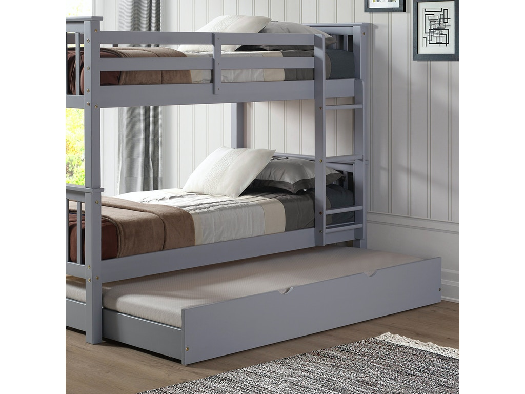 Ft Myers Bedroom Solid Wood Twin Trundle Bed White Wedbtw40gy Walter E Smithe Furniture Design