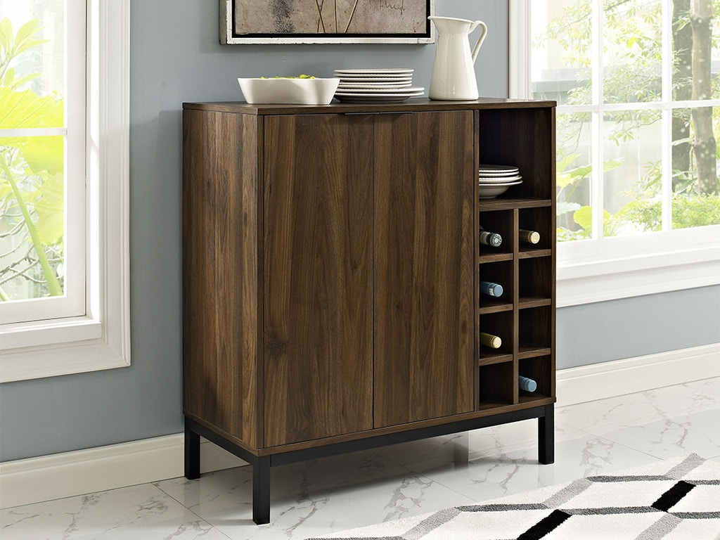 Modern Bar Cabinet Buffet With Wine Storage Wedbu34cobcdw