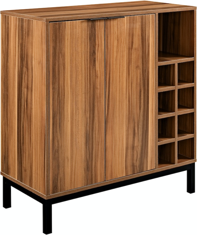 Modern Bar Cabinet Buffet With Wine Storage Teak Wedbu34cobctk