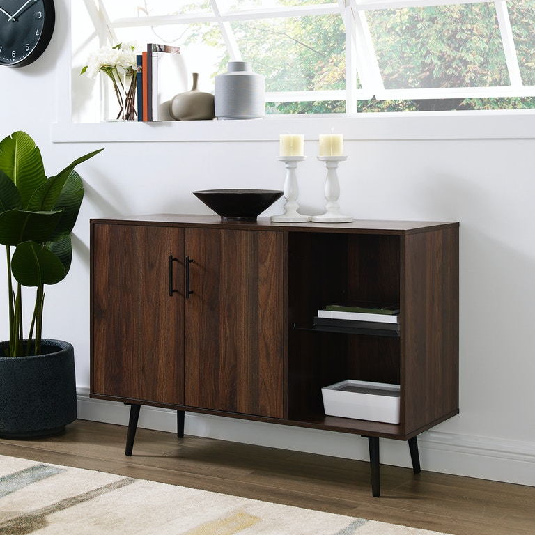 brand new ff42d f0c2b Ft Myers Home Entertainment 44'' Mid Century Modern Transitional  Asymetrical Sideboard Buffet Accent Storage Console TV Stand WEDBU44MCADW  Walter E. ...