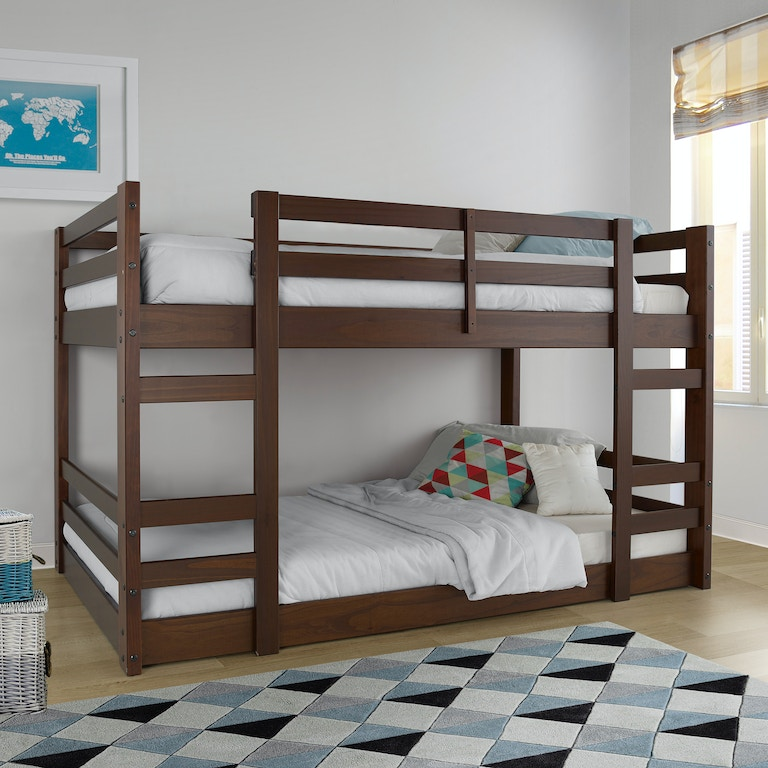 Ft Myers Youth Low Wood Twin Bunk Bed BWJRTOTWT Walter E Smithe Furniture Design