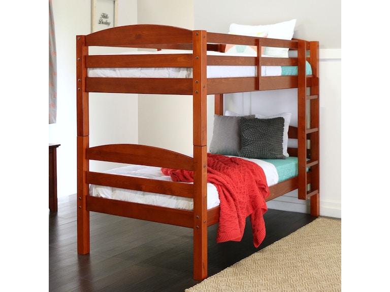 Twin Solid Wood Bunk Bed Wedbwstotch