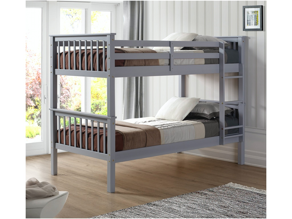 brand new a4123 5b9ca Ft Myers Youth Twin over Twin Solid Wood Mission Design Bunk Bed  WEDBWTOTMSGY Walter E. Smithe Furniture + Design