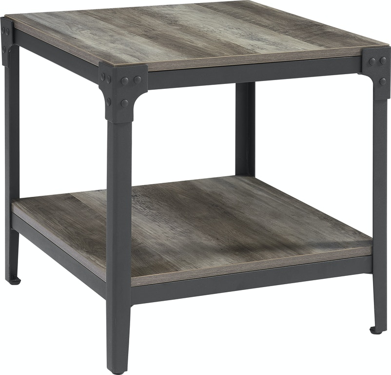 Fine Ft Myers Living Room Angle Iron Rustic Wood End Table Set Of 2 Grey Wash Wedc20Aistgw Walter E Smithe Furniture Design Caraccident5 Cool Chair Designs And Ideas Caraccident5Info