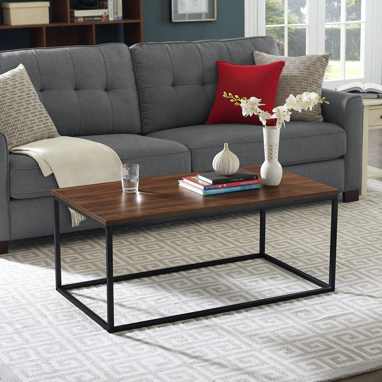 Ft Myers 42 Transitional Mixed Material Coffee Table Wedc42lwsqdw