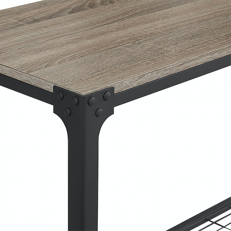 Angle Iron Rustic Wood Sofa Entry Table WEDC44AIETAG