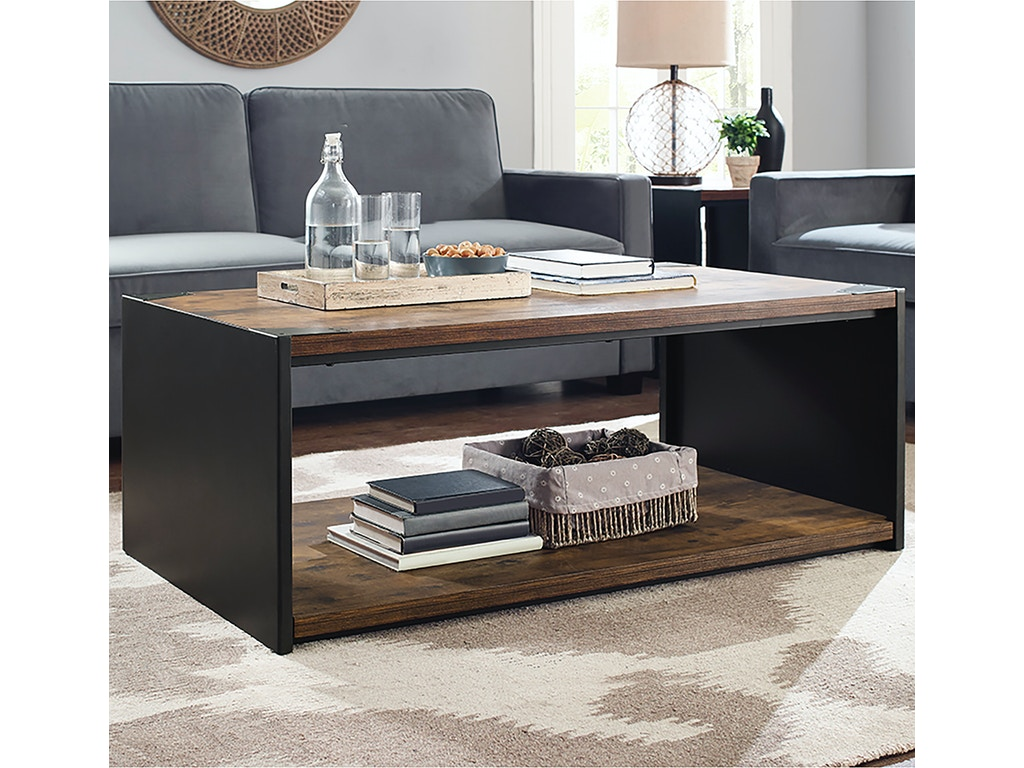 Ft Myers Living Room 48 Steel Plate And Wood Coffee Table Wedc48spctrw Walter E Smithe Furniture Design