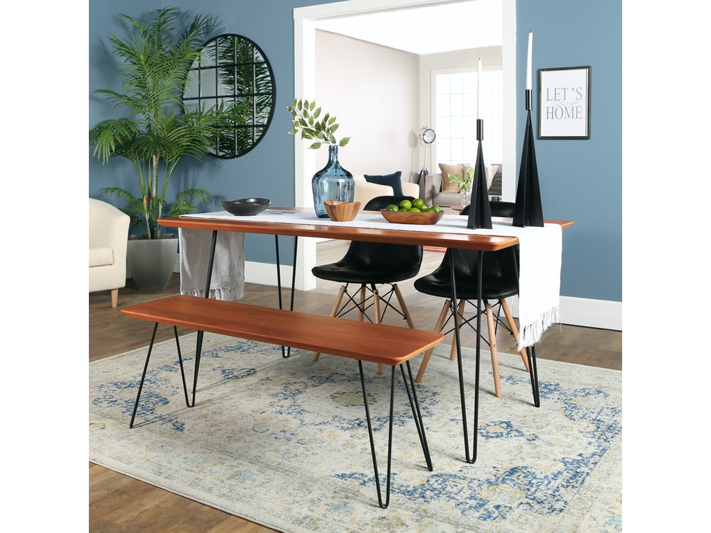 Ft Myers Dining Room Contemporary Mid Century Modern Square Hairpin 4 Piece Dining Set With Eames Chairs Wedc60hppuwt4 Walter E Smithe Furniture