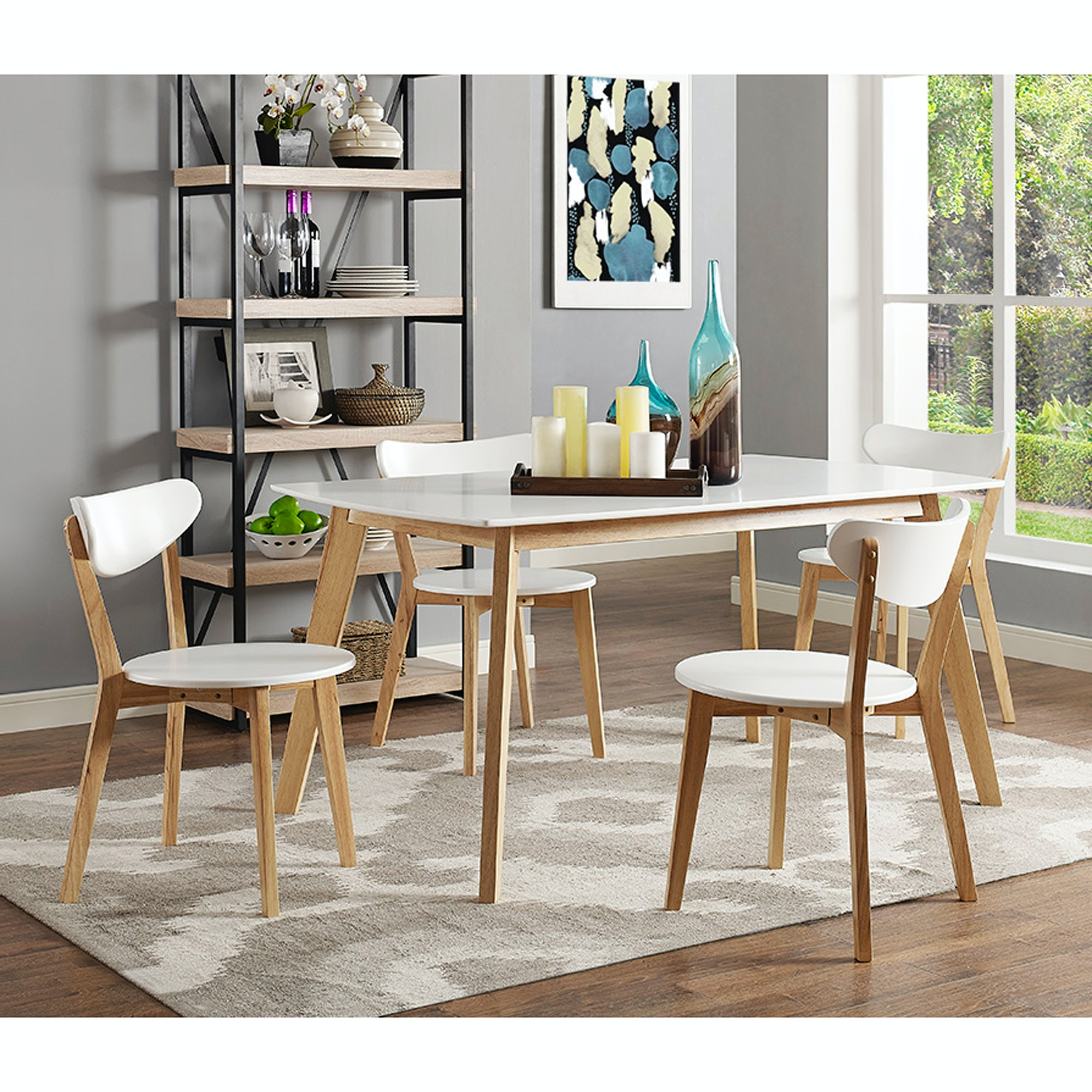 Merveilleux Ft Myers 5  Piece Retro Modern Wood Dining Set WEDC60RMWNL From Walter E.  Smithe