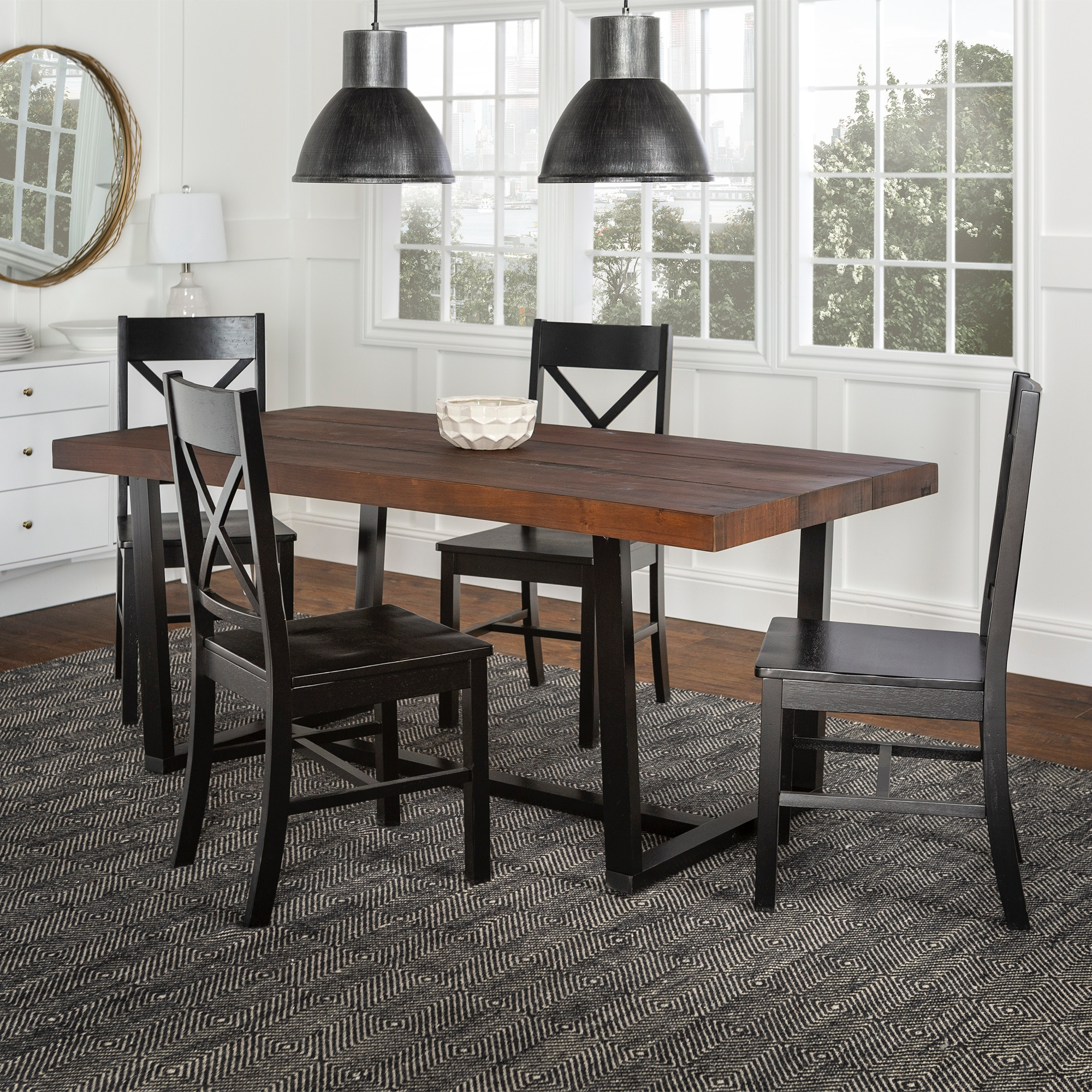 Ft Myers Dining Room 5-Piece Farmhouse Dining Set C72DSTRMBL-5 Walter E.  Smithe Furniture + Design