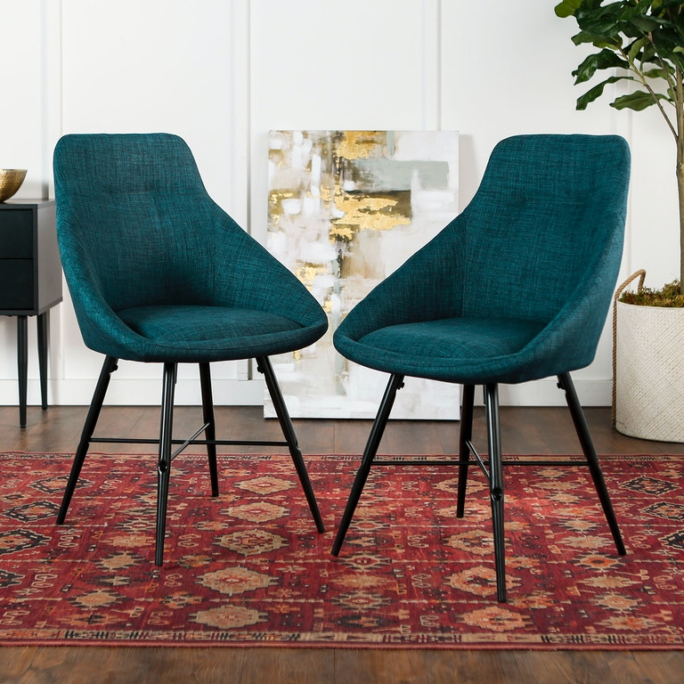 Mid Century Modern Upholstered Dining Side Accent Chair