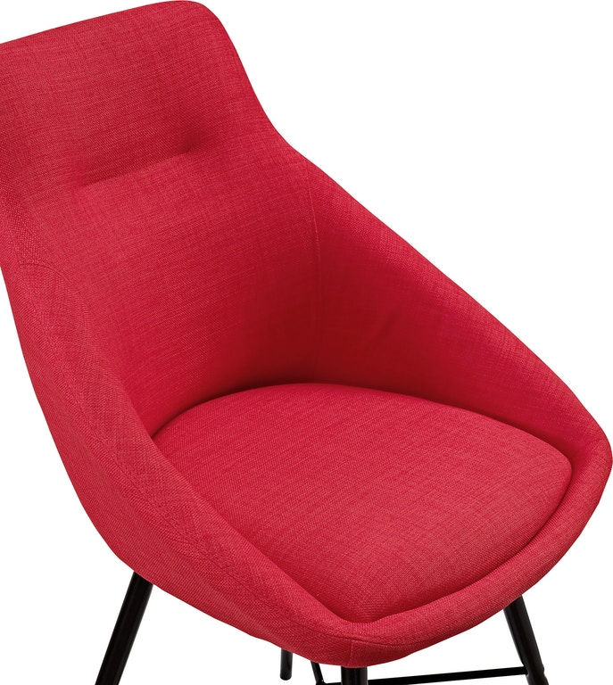 Ft Myers Mid Century Modern Upholstered Dining Side Accent Chair Set Of 2 Red