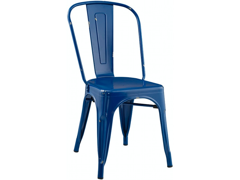 Ft Myers Stackable Metal Cafe Bistro Chair Navy Blue Wedch33mcnb From Walter E Smithe