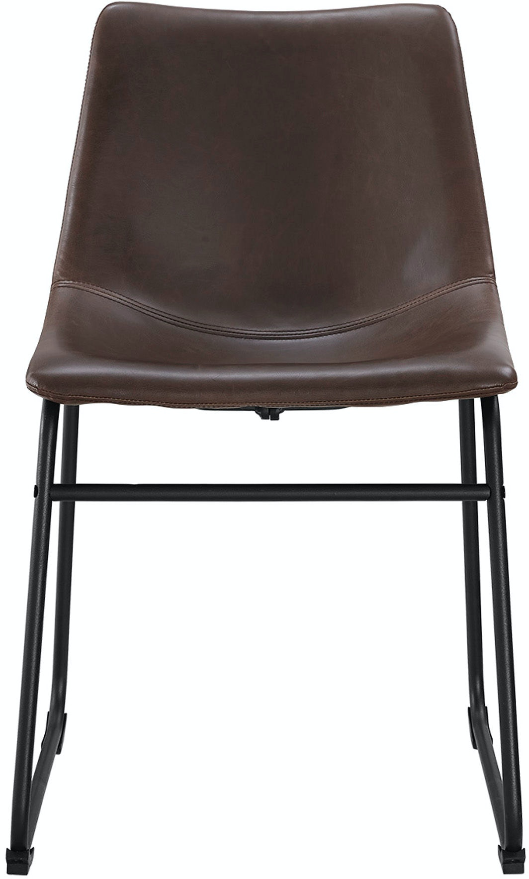 Faux Leather Dining Chairs Set Of 2 Wedchl18br