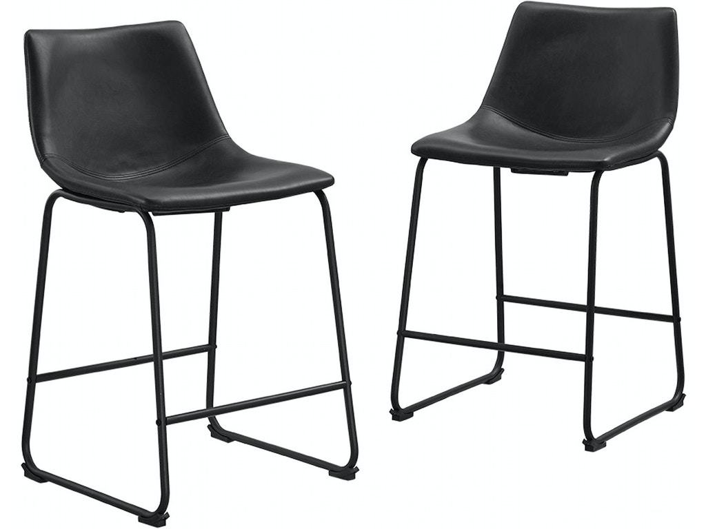 Excellent Ft Myers Bar And Game Room Faux Leather Counter Stools Set Of 2 Wedchl26Bl Walter E Smithe Furniture Design Gmtry Best Dining Table And Chair Ideas Images Gmtryco