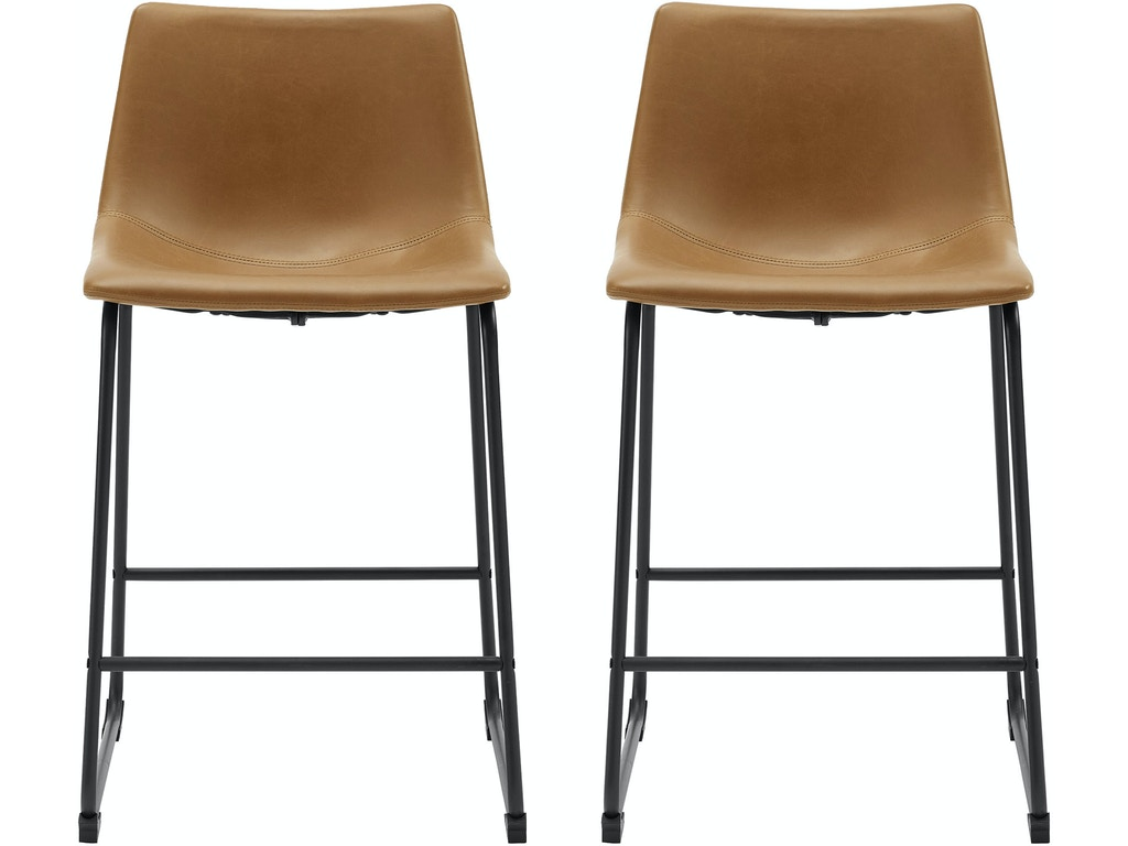 los angeles 5e01f 2ad90 Ft Myers Bar and Game Room 26'' Industrial Faux Leather Counter Stool, set  of 2 WEDCHL26WB Walter E. Smithe Furniture + Design