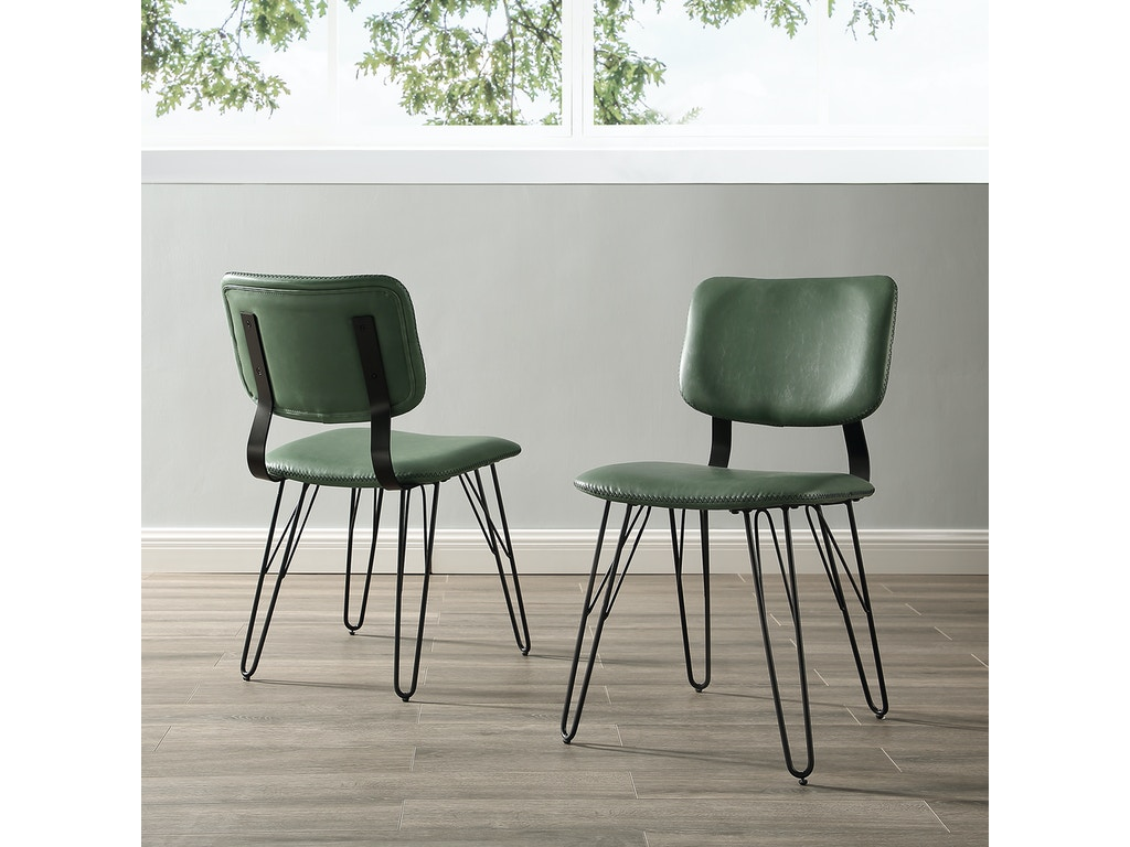 Set Of 2 Living Room Accent Chairs.Ft Myers Living Room Mid Century Modern Industrial Flex Back Accent Dining Chair With Black Stitching Set Of 2 Wedchuphar2pgr Walter E Smithe