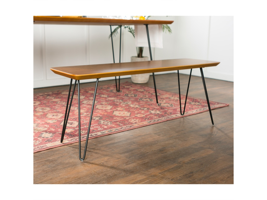 Peachy Ft Myers Dining Room Mid Century Modern Hairpin Entryway Dining Bench Walnut Weddb56Hpdwt Walter E Smithe Furniture Design Gmtry Best Dining Table And Chair Ideas Images Gmtryco