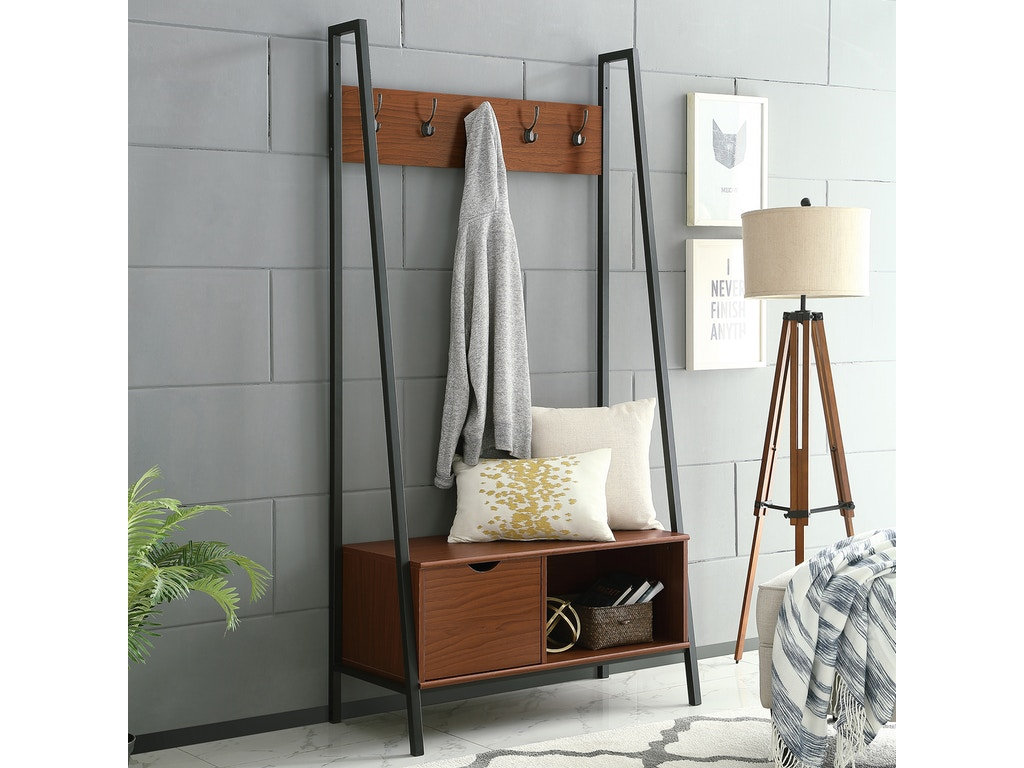 Swell Ft Myers Accessories Urban Industrial Angled Side Metal And Wood Storage Hall Tree Coat Rack Bench Acorn Wedht72Finpc Walter E Smithe Furniture Ibusinesslaw Wood Chair Design Ideas Ibusinesslaworg