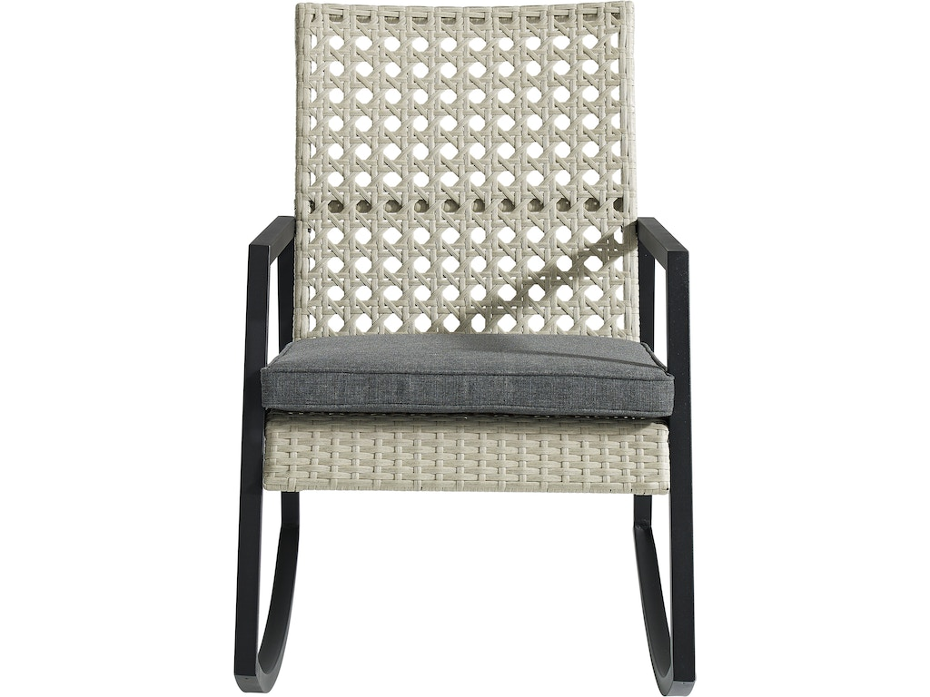 promo code 9b9a6 77835 Ft Myers OutdoorPatio Modern Patio Rattan Rocking Chair - Light Grey/Grey  ORLIZRC1GG Walter E. Smithe Furniture + Design