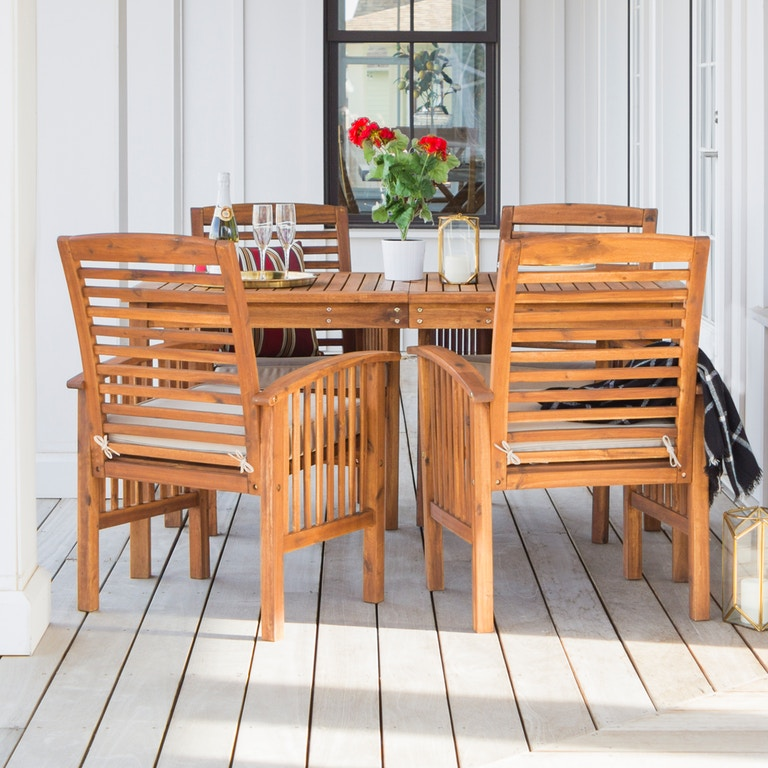 Outdoor Classic Traditional Modern Contemporary Acacia Wood Simple