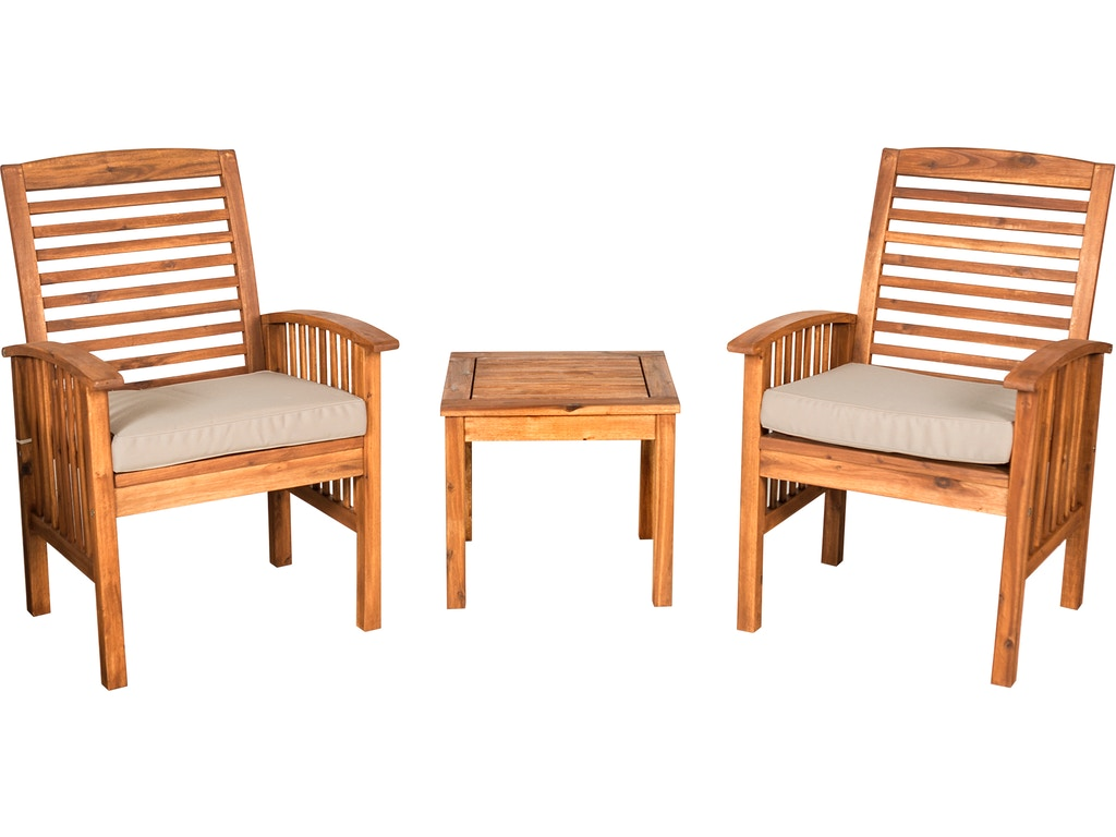 Surprising Ft Myers Outdoorpatio Outdoor Classic Acacia Wood Patio Chairs And Side Table Brown Wedowc3Cgbr Walter E Smithe Furniture Design Lamtechconsult Wood Chair Design Ideas Lamtechconsultcom