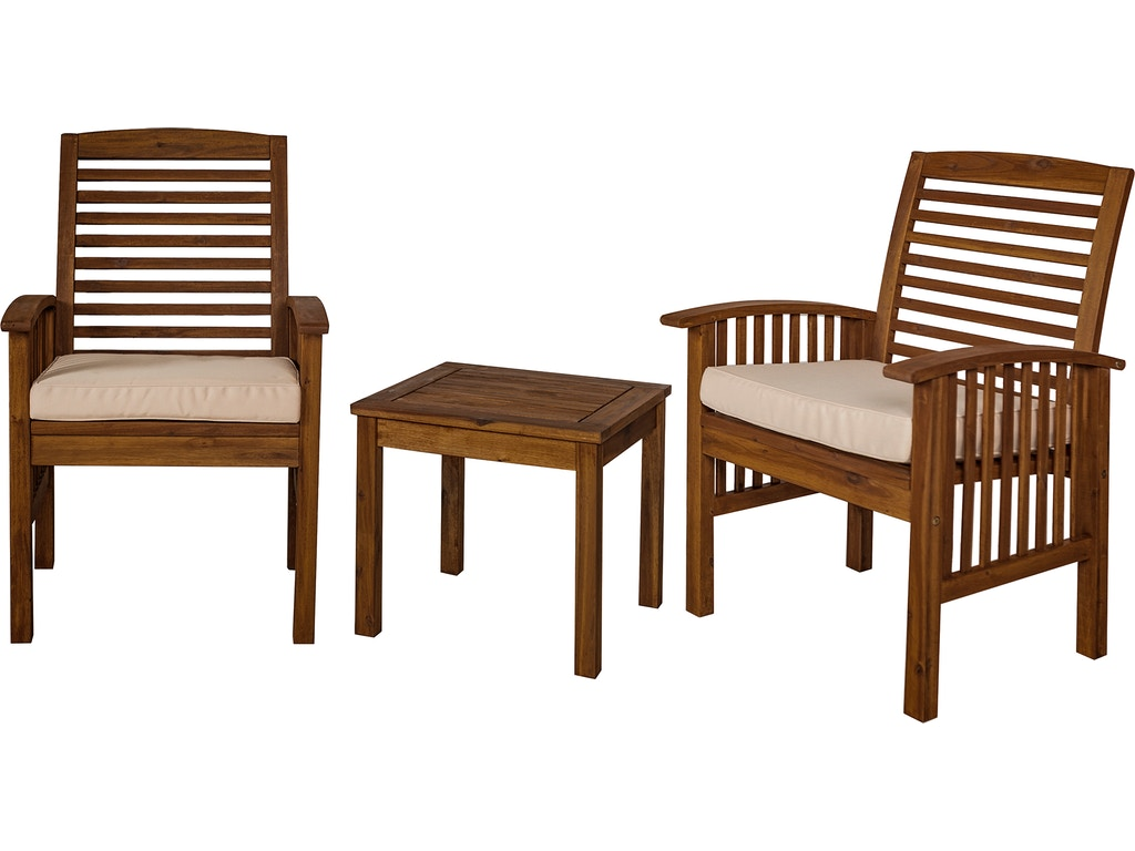 Brilliant Ft Myers Outdoorpatio Outdoor Classic Acacia Wood Patio Chairs And Side Table Dark Brown Wedowc3Cgdb Walter E Smithe Furniture Design Lamtechconsult Wood Chair Design Ideas Lamtechconsultcom