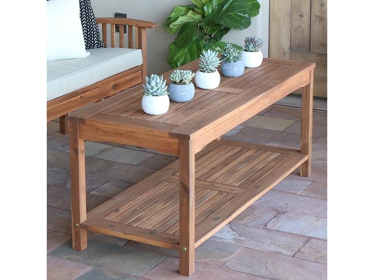 Acacia Wood Patio Coffee Table Wedowctbr