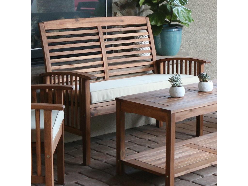 Brilliant Ft Myers Outdoorpatio Acacia Wood Patio Loveseat Bench Wedowlsbr Walter E Smithe Furniture Design Evergreenethics Interior Chair Design Evergreenethicsorg
